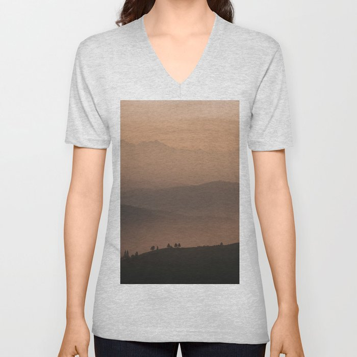 Mountain Love - Landscape and Nature Photography Unisex V-Neck