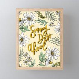 SUNNY DAYS AHEAD Framed Mini Art Print