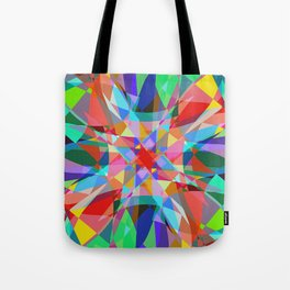 Multicolored Kaleidescope Abstract Tote Bag