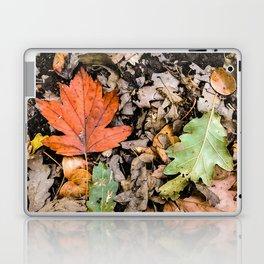 Autumnal leaves on the ground Laptop & iPad Skin