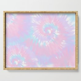 Cotton Candy Tie-Dye Serving Tray