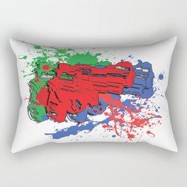 Gitchy Gun and paint Rectangular Pillow
