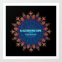 book cover Art Prints featuring Kaleidoscope Art Book Cover by Sam Skyler