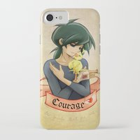 courage iPhone & iPod Cases featuring Courage by Achiru