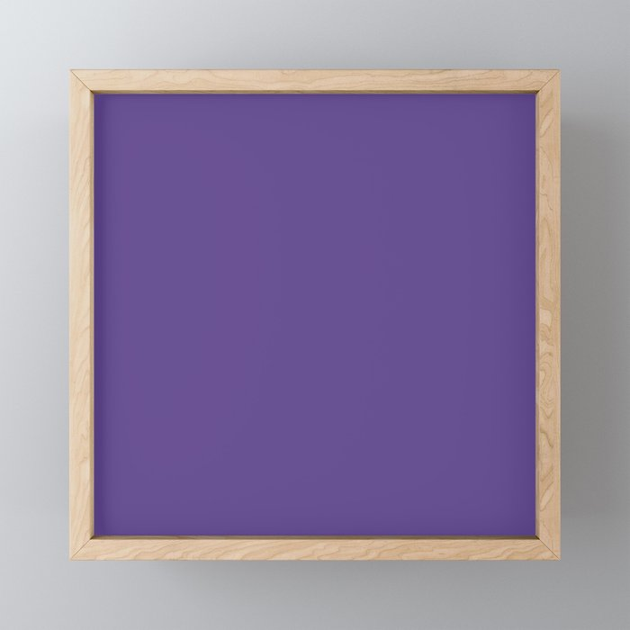 Solid Ultra Violet pantone Framed Mini Art Print