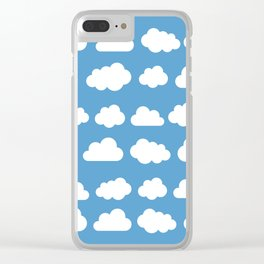 White Clouds in Blue Skies Clear iPhone Case