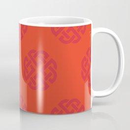 Celtic Endless Knot Flaming Scarlet and Orange Coffee Mug