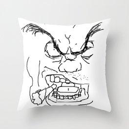 Screamin' Smokin' Sarge Throw Pillow