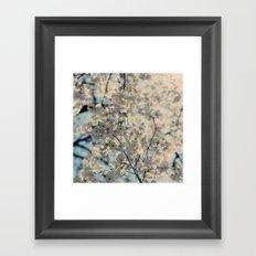 White Spring Framed Art Print