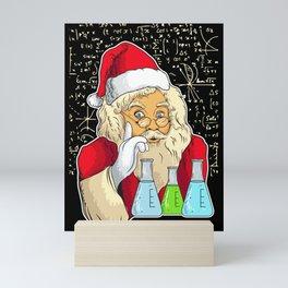 Santa The Scientist Mini Art Print