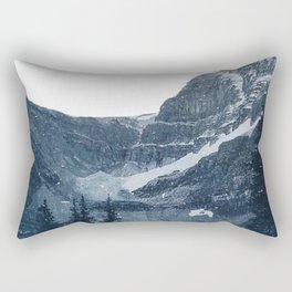 Transparent Snowy Mountains Rectangular Pillow