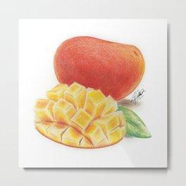 Mango Dice Metal Print