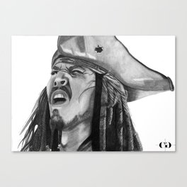 Jack Sparrow - I Wash My Hands Of This Weirdness Canvas Print