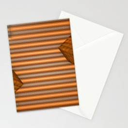 Cubes and jalousie Stationery Cards