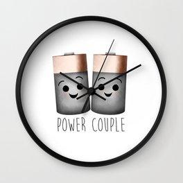 Power Couple | Batteries Wall Clock