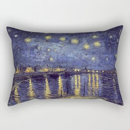 Vincent Van Gogh Starry Night Over The Rhone Rectangular Pillow