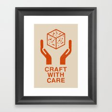 Craft With Care (Orange) Framed Art Print