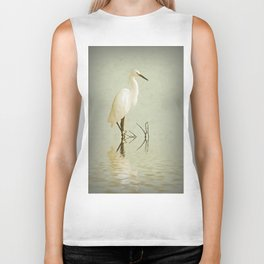 Little Egret Biker Tank