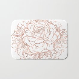 Mandala Lunar Rose Gold Bath Mat