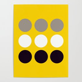 Abacus - Retro Dots On Yellow Background #decor #society6 #buyart Poster