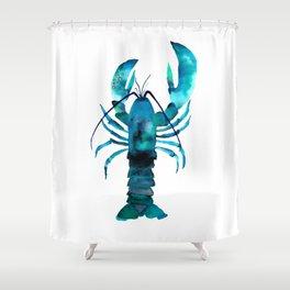 Blue Lobster Shower Curtain