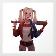 Harley Quinn Art Print