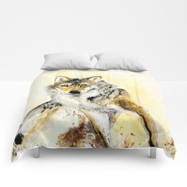 Totem Grey wolf Comforters