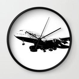 One World Boeing 747 Sketch Wall Clock