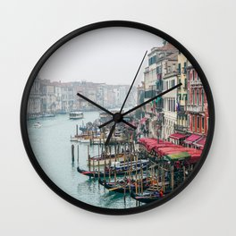 Gondolas and Grand Canal inVenice Wall Clock