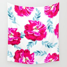 Fluorescent Florals #society6 #decor #buyart Wall Tapestry