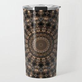 Mandala grey elegance Travel Mug