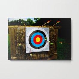 Approaching the target Metal Print