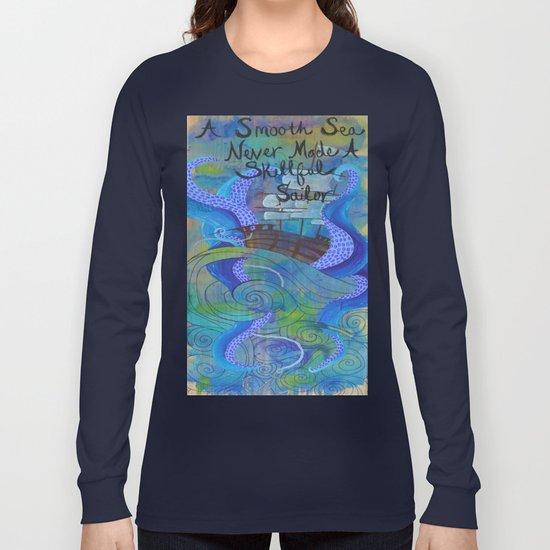 Rough Waters (Blue/Green) Long Sleeve T-shirt
