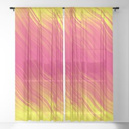 Stripes Wave Pattern 10 pyi Sheer Curtain
