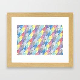 Multicoloured Houndstooth Framed Art Print