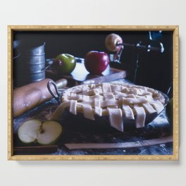 Apple Pie in the Making Serving Tray