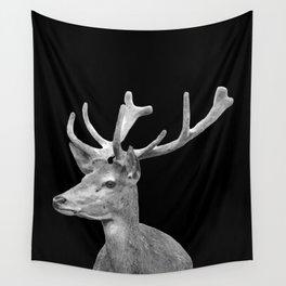 Deer Black Wall Tapestry
