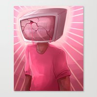 cracked Canvas Prints featuring cracked. by Zombie Rufio