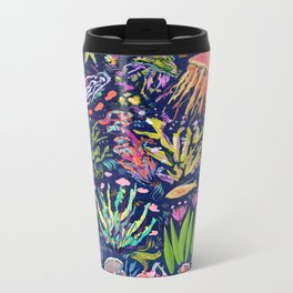 Ocean Blue Metal Travel Mug