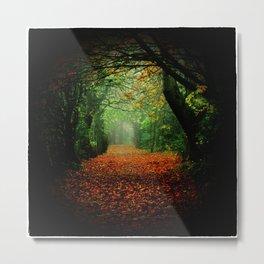 Welcome to Autumn Metal Print