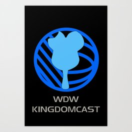 *FOR DARK SHIRTS* WDW Kingdomcast - Classic logo Art Print