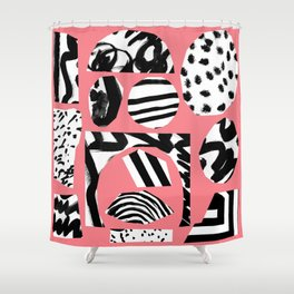 pink-flam Shower Curtain