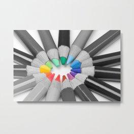 Colored Pencils Metal Print