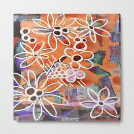 Flowers in Your Journal Metal Print