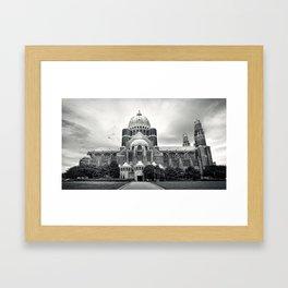 basilique de Koekelberg Framed Art Print