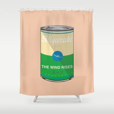 The wind rises- Miyazaki - Special Soup Series  Shower Curtain