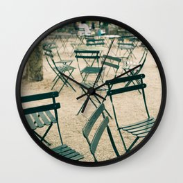 Bryant Park Chairs Wall Clock