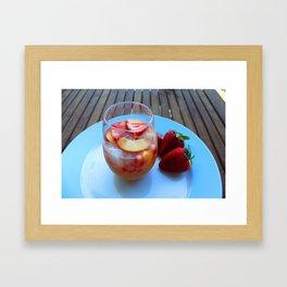 sangria series (#2 - strawberry peach chardonnay) Framed Art Print