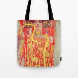 Gustav Klimt - Greek Goddess of Medicine Hygeia Tote Bag