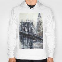 brooklyn bridge Hoodies featuring Brooklyn Bridge  by Kasia Pawlak